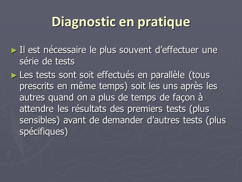 Diagnostic en pratique