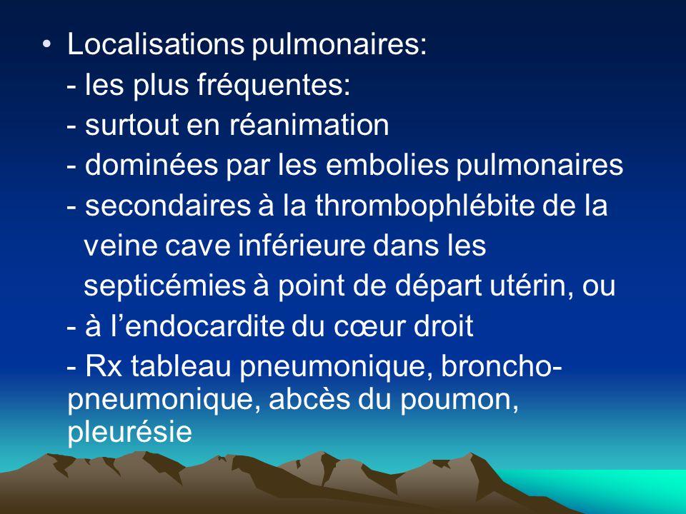 Localisations pulmonaires: