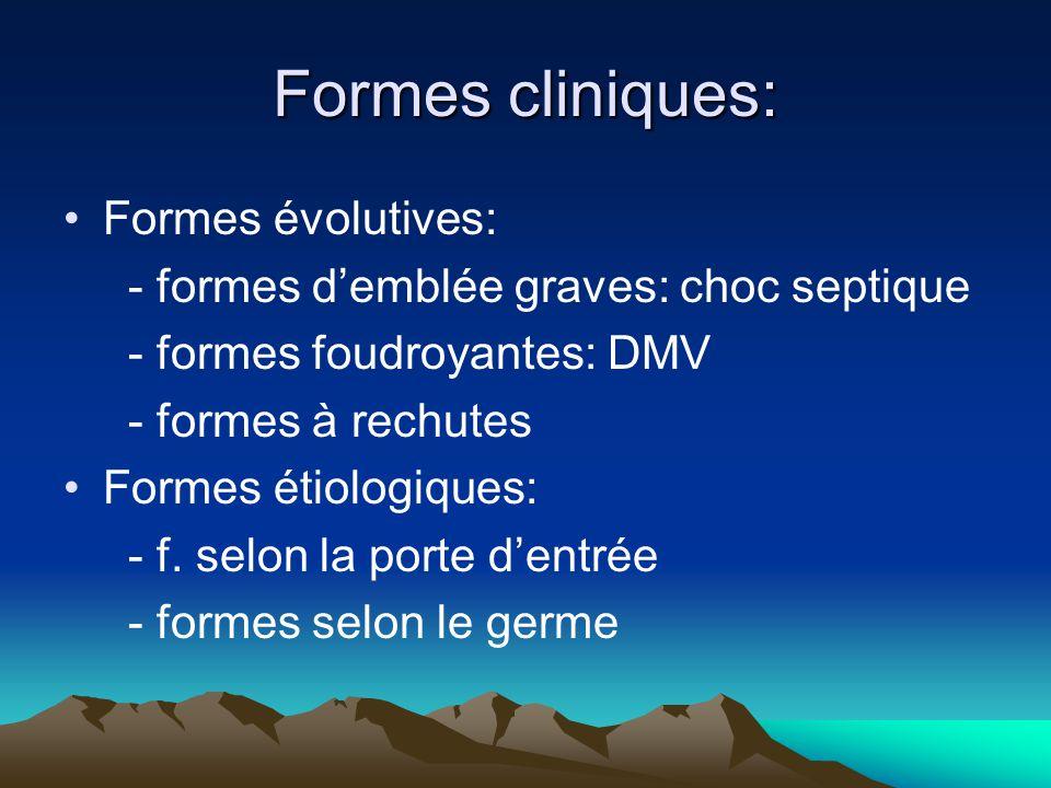 Formes cliniques: Formes évolutives:
