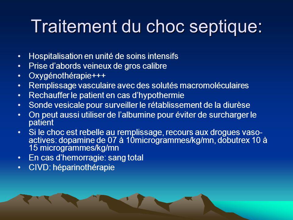 Traitement du choc septique: