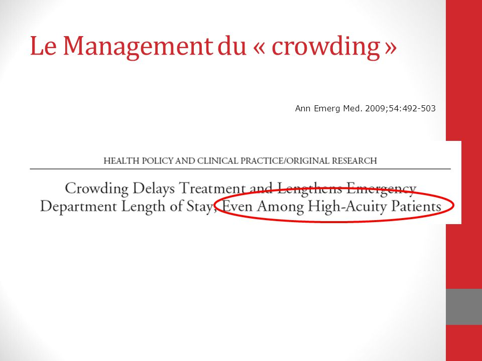 Le Management du « crowding »