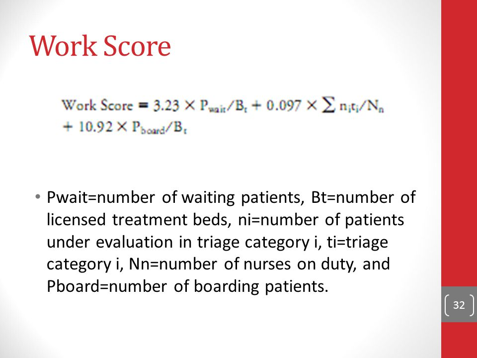 Work Score