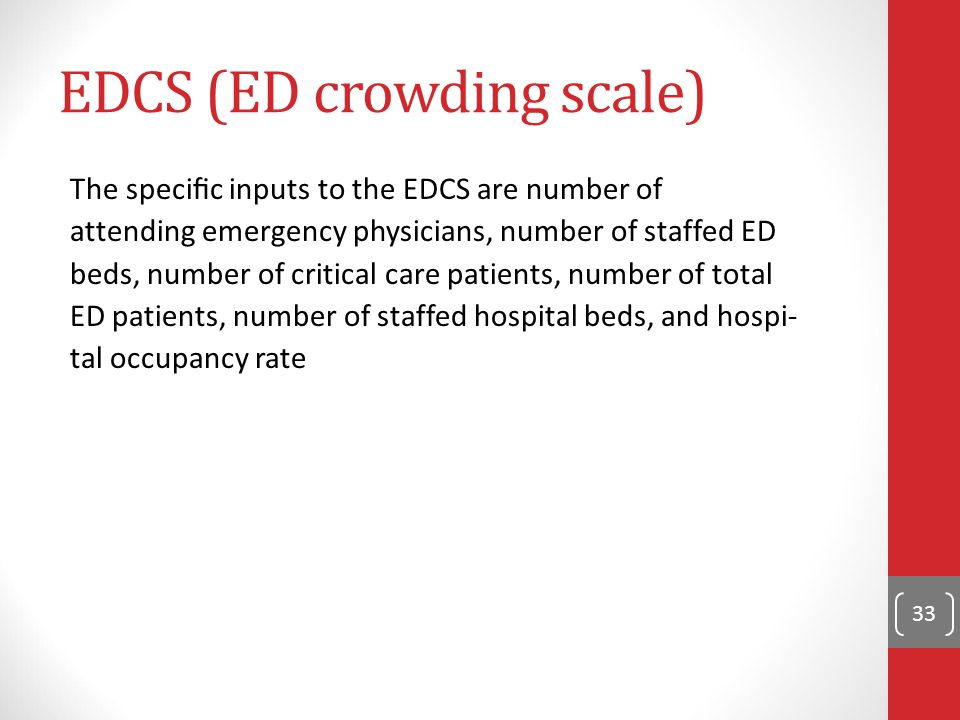 EDCS (ED crowding scale)