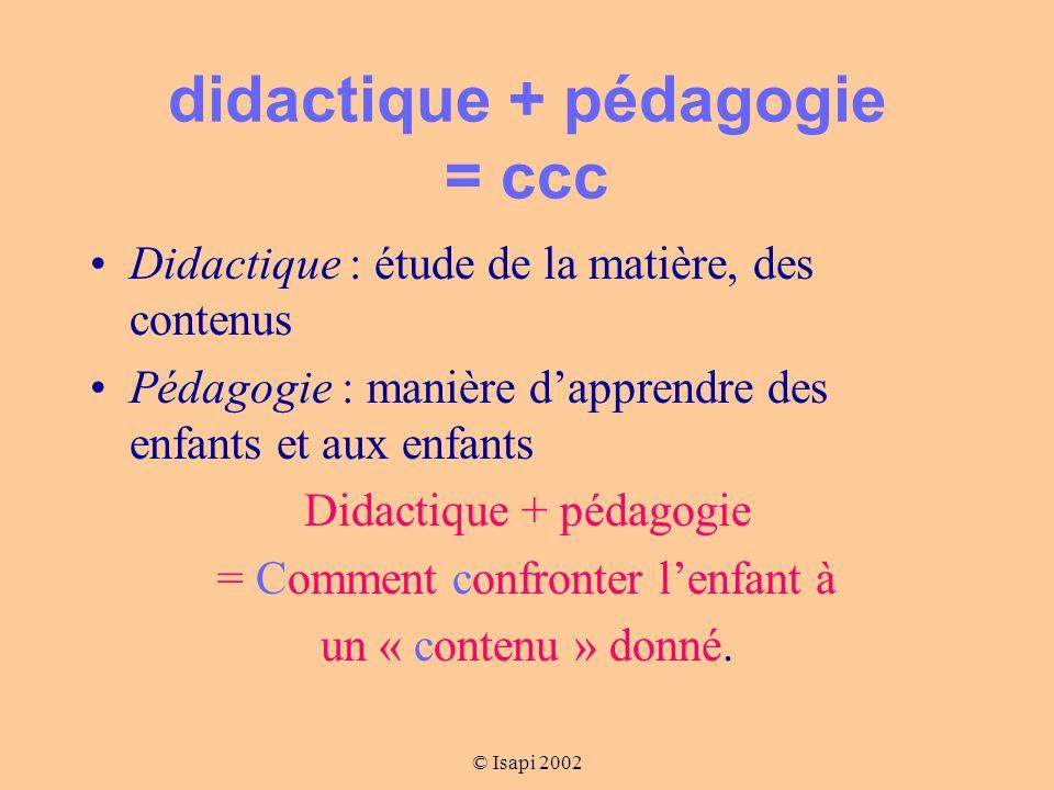 didactique + pédagogie = ccc