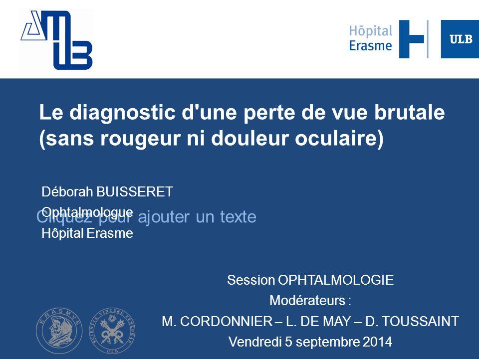 Déborah BUISSERET Ophtalmologue Hôpital Erasme
