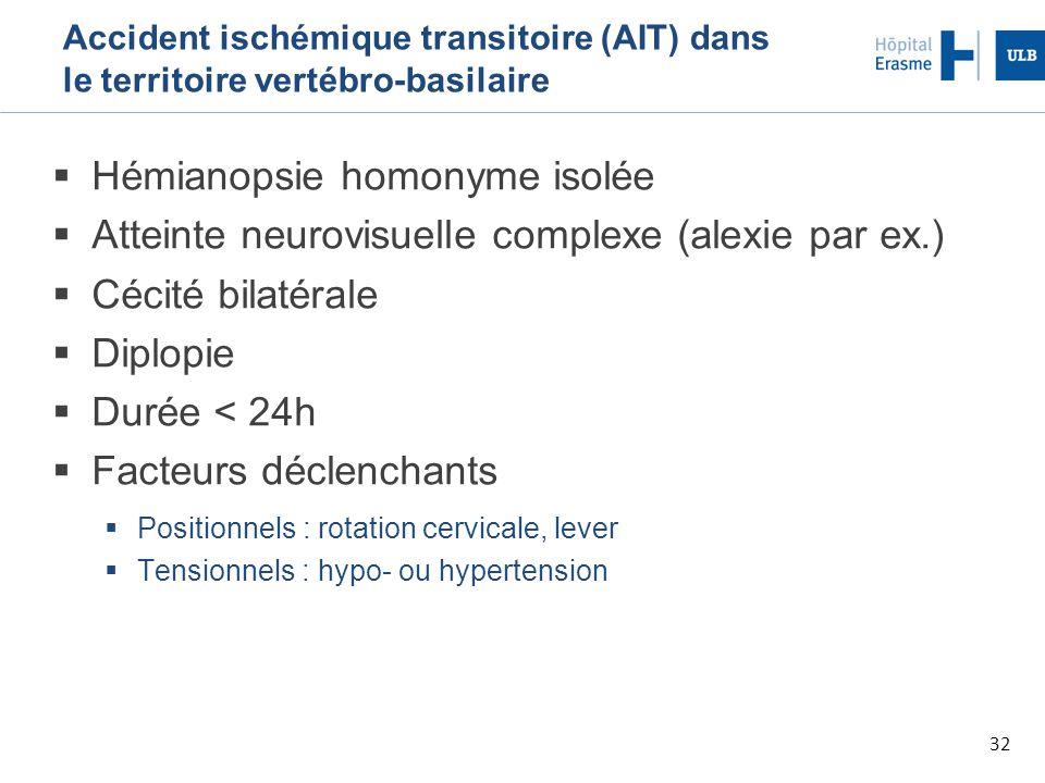 Hémianopsie homonyme isolée
