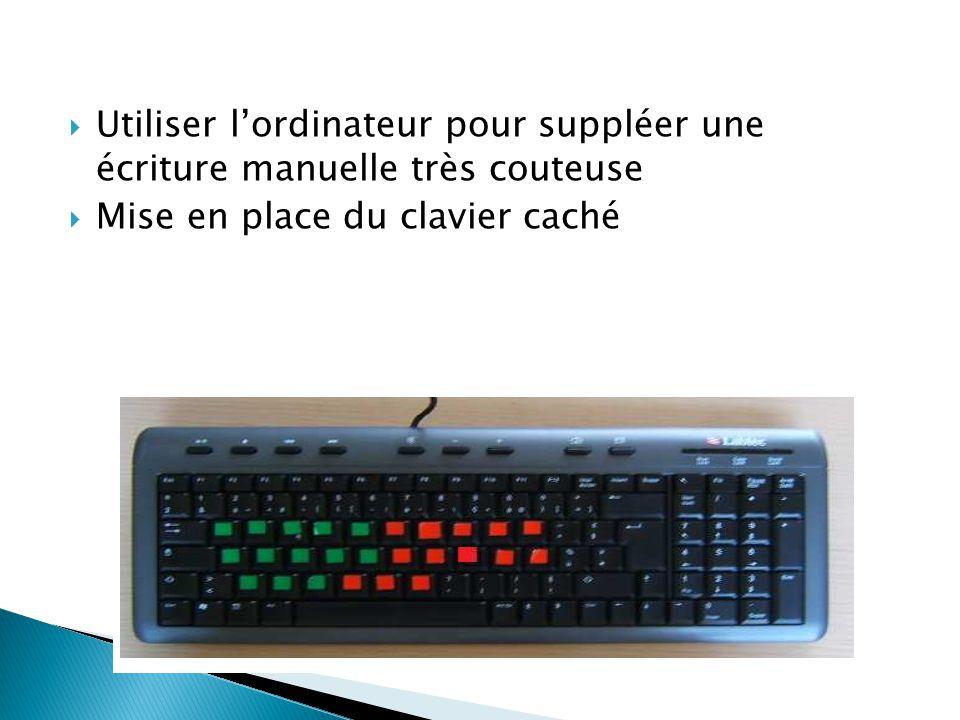 Utiliser l'ordinateur pour suppléer une écriture manuelle très couteuse