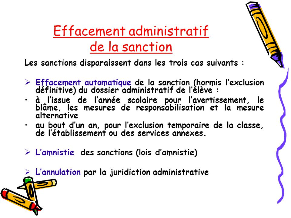 Effacement administratif de la sanction
