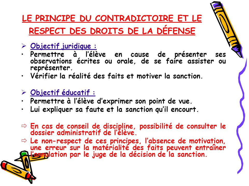 punition sur le respect
