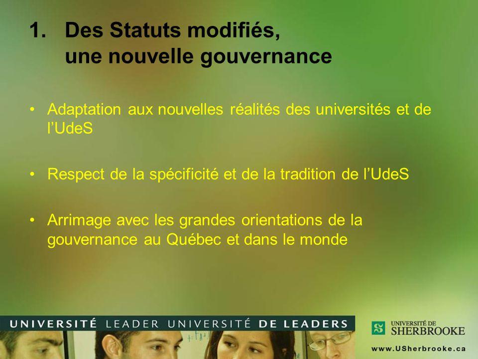 Des Statuts modifiés, une nouvelle gouvernance