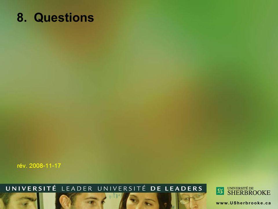 8. Questions rév. 2008-11-17