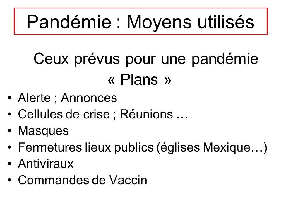 Pandémie : Moyens utilisés