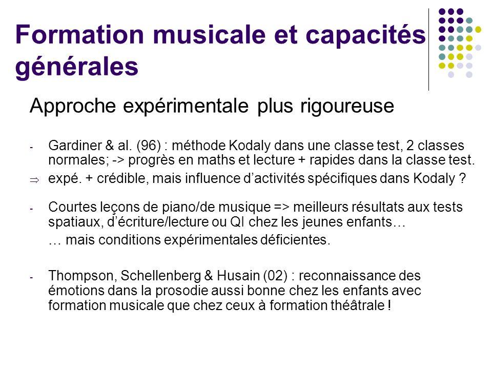 Formation musicale et capacités générales