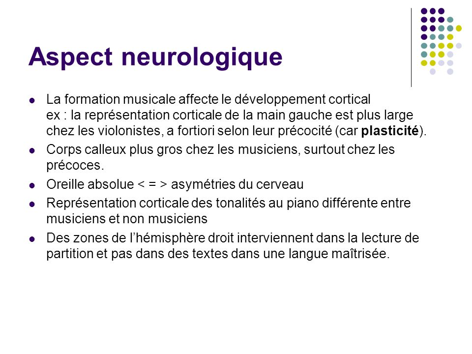 Aspect neurologique
