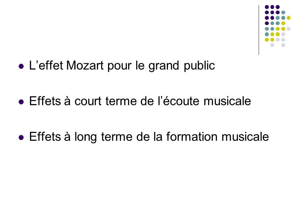 L'effet Mozart pour le grand public