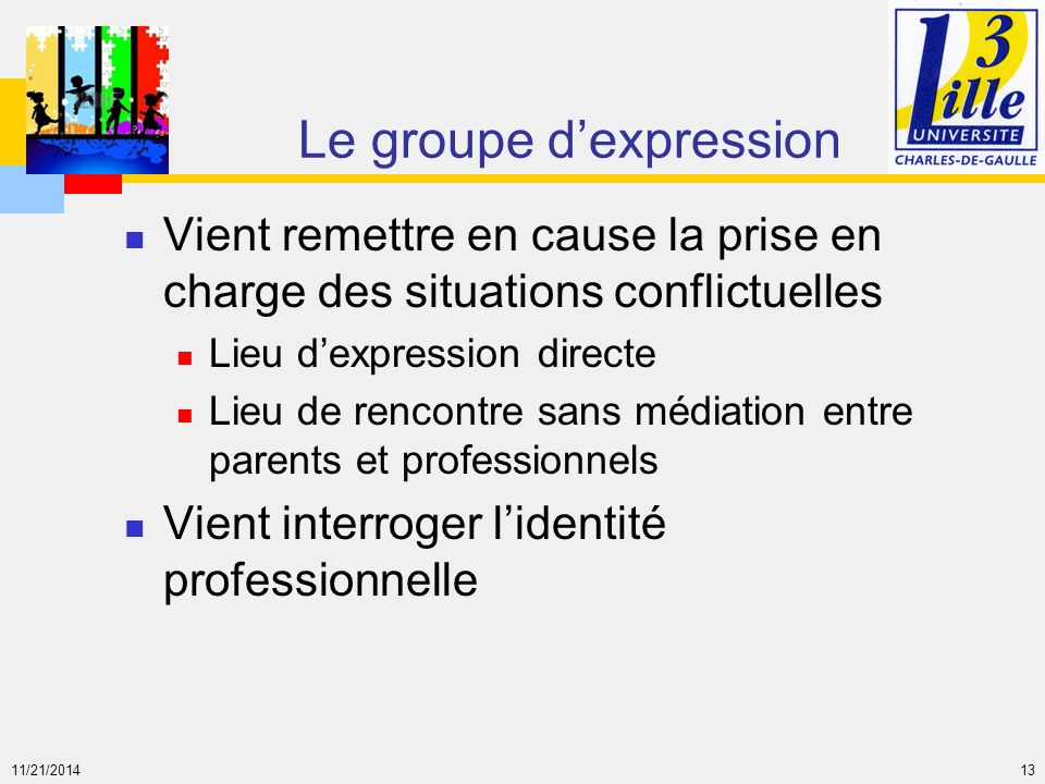 Le groupe d'expression