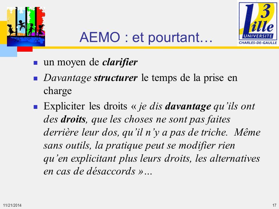 AEMO : et pourtant… un moyen de clarifier