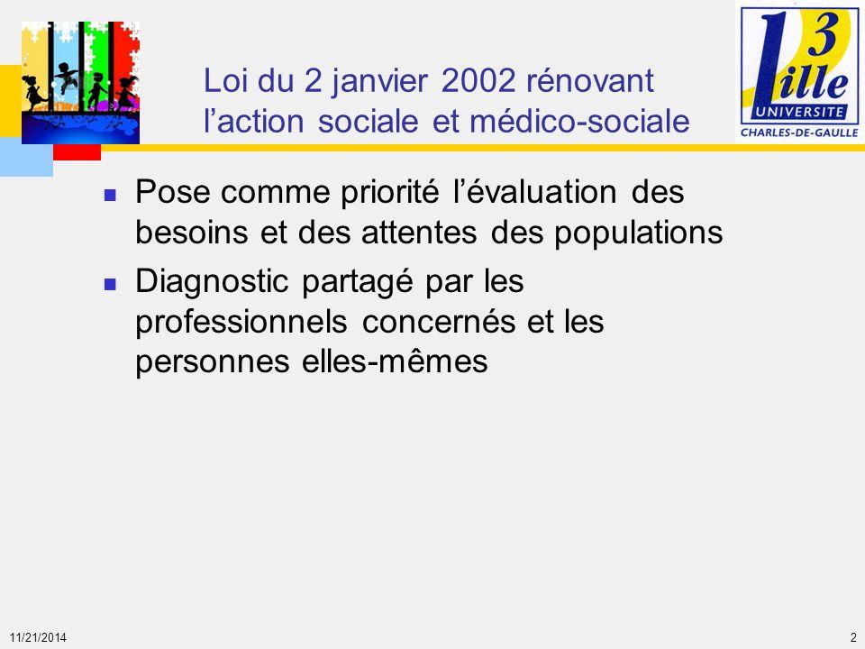 Loi du 2 janvier 2002 rénovant l'action sociale et médico-sociale