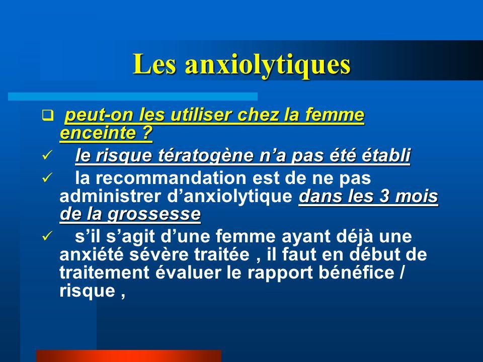 Les anxiolytiques peut-on les utiliser chez la femme enceinte