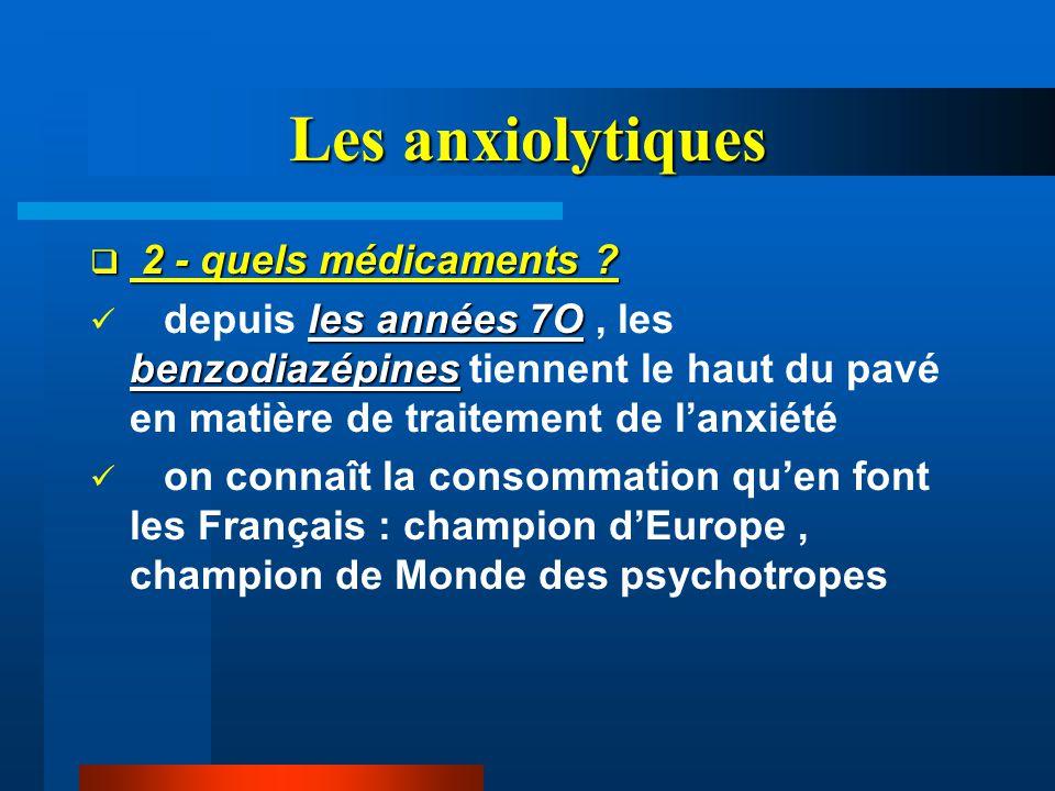 Les anxiolytiques 2 - quels médicaments
