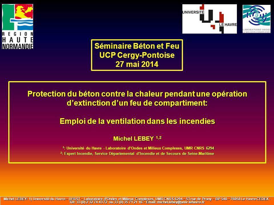 Séminaire Béton et Feu UCP Cergy-Pontoise 27 mai 2014