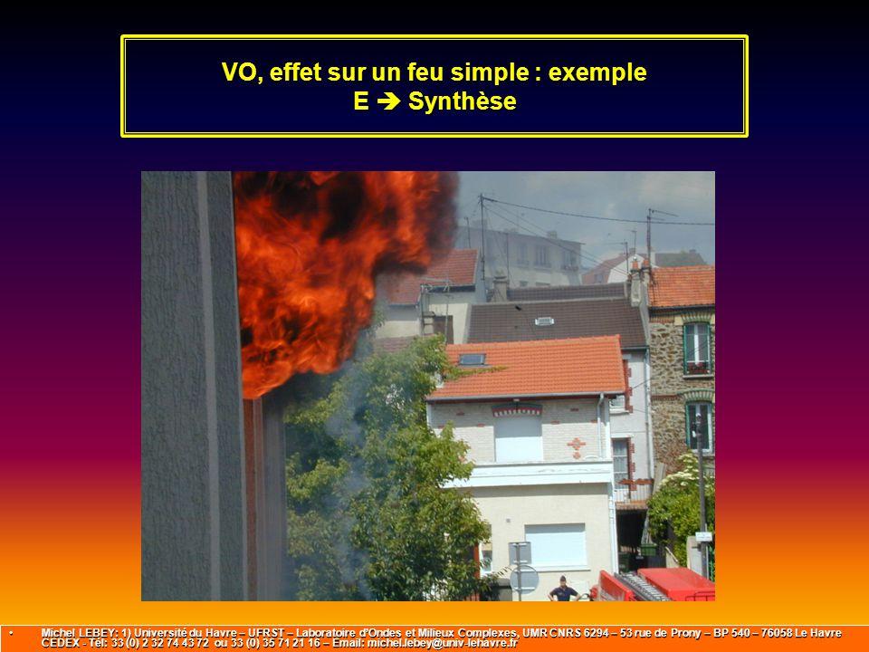 VO, effet sur un feu simple : exemple E  Synthèse