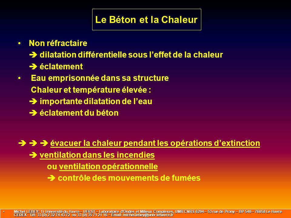 Le Béton et la Chaleur Non réfractaire