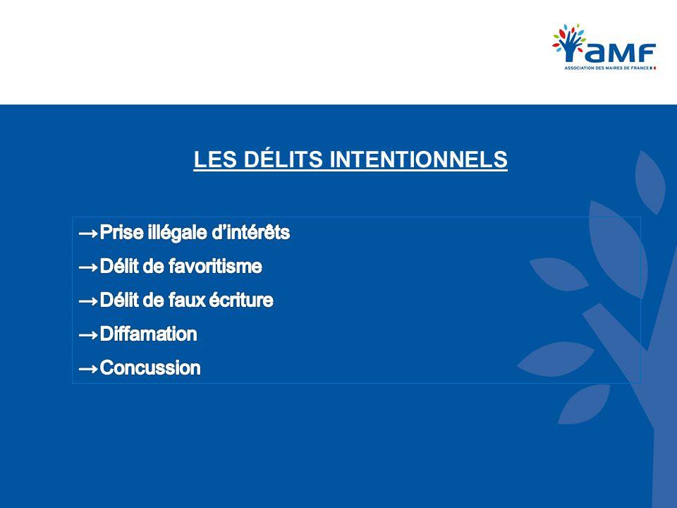 LES DÉLITS INTENTIONNELS