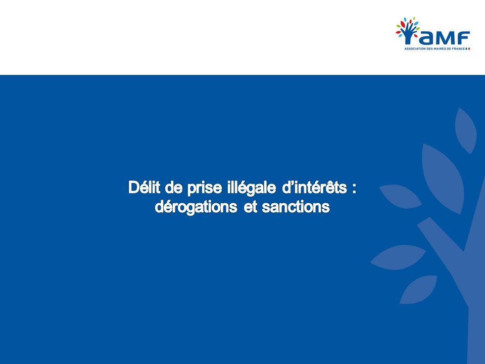 Délit de prise illégale d'intérêts : dérogations et sanctions