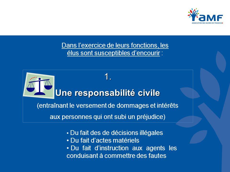 Une responsabilité civile