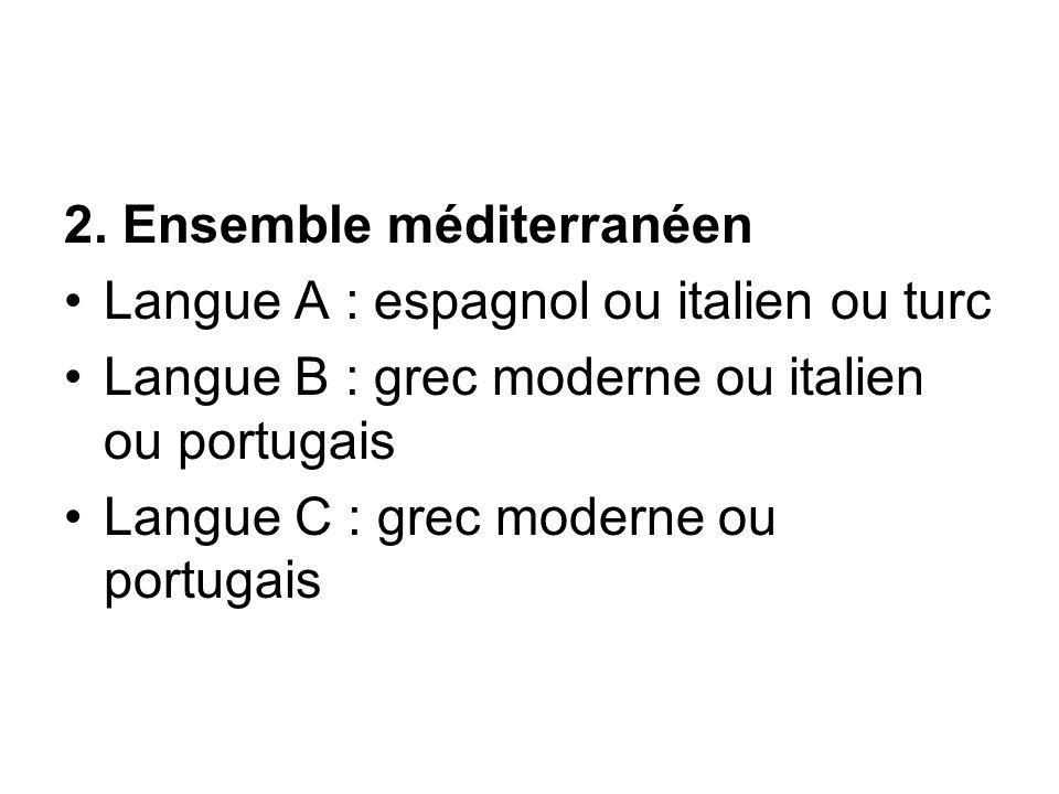 2. Ensemble méditerranéen