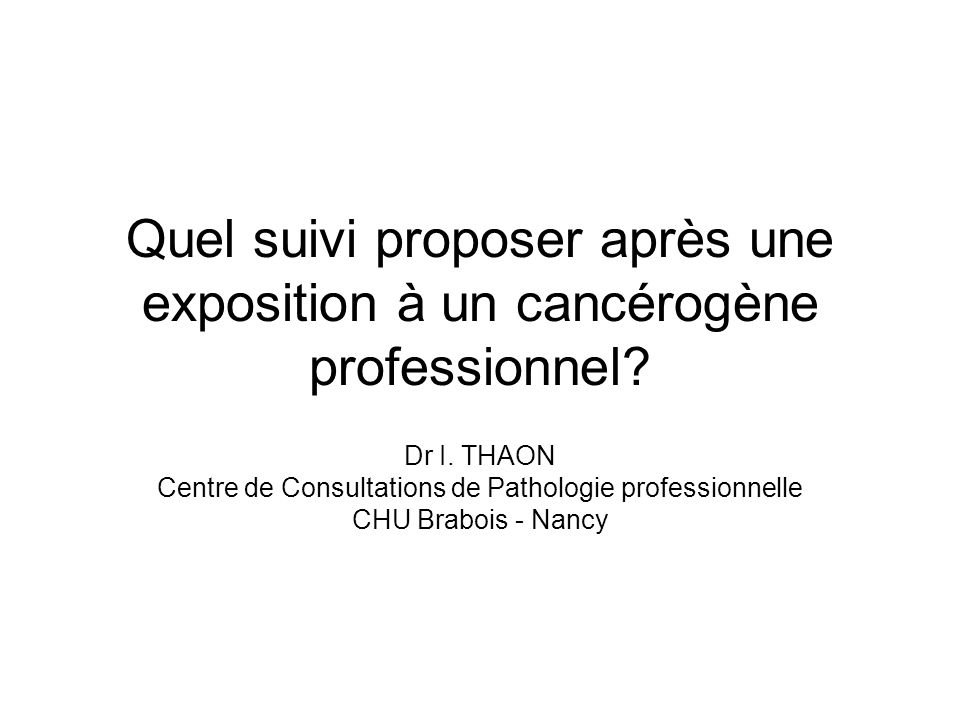 Centre de Consultations de Pathologie professionnelle