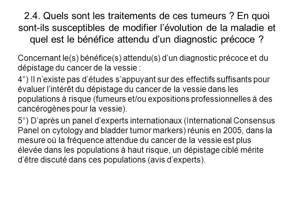 2. 4. Quels sont les traitements de ces tumeurs