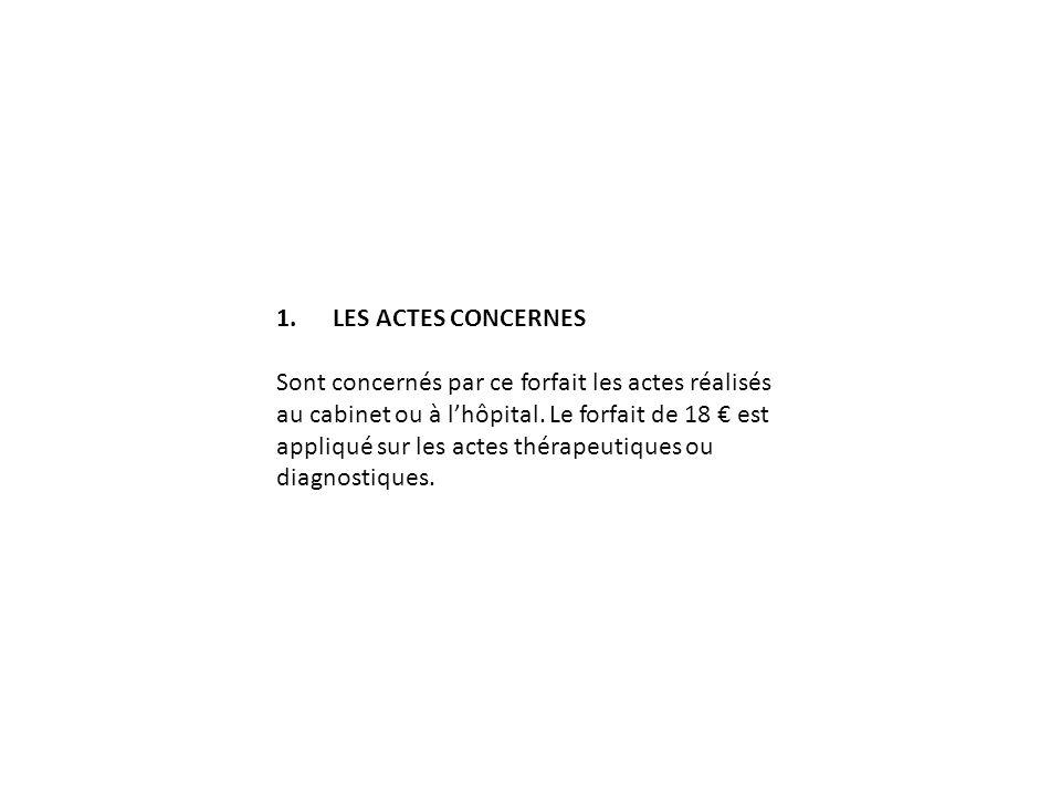 1. LES ACTES CONCERNES