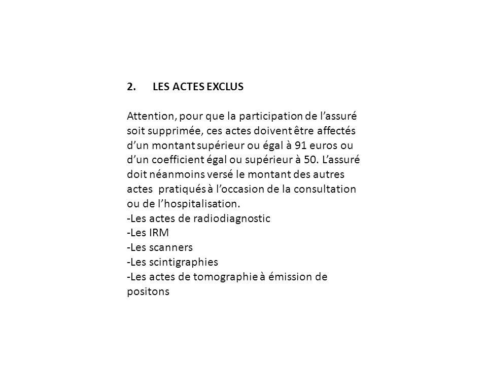 2. LES ACTES EXCLUS