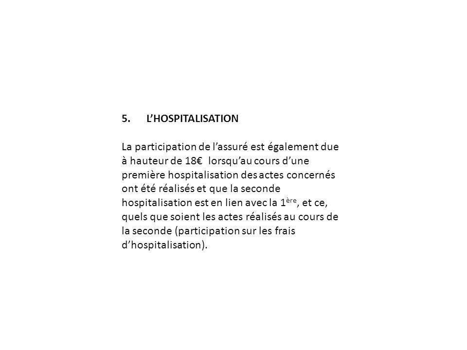 5. L'HOSPITALISATION