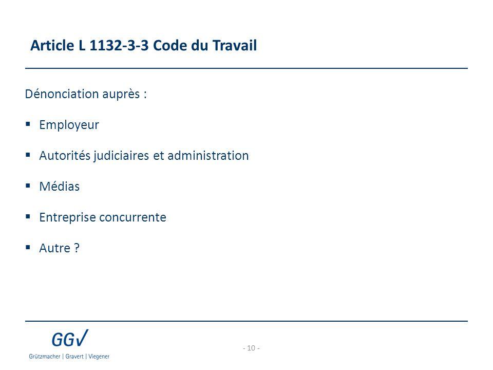 Article L 1132-3-3 Code du Travail