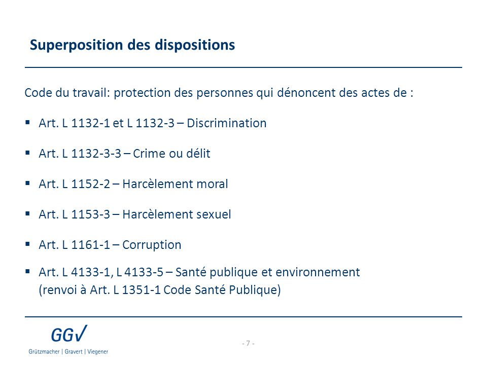 Superposition des dispositions