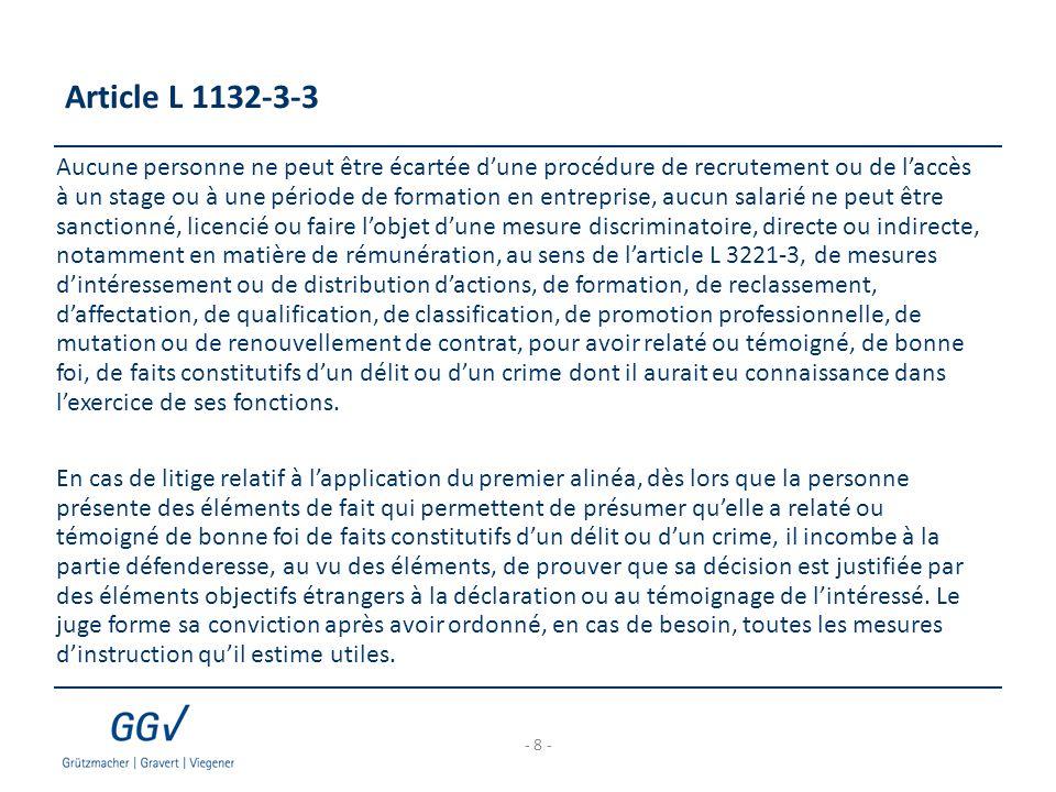 Article L 1132-3-3
