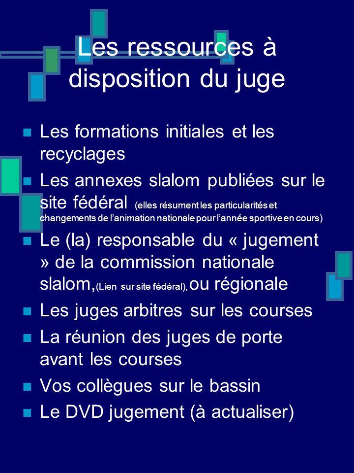 Les ressources à disposition du juge