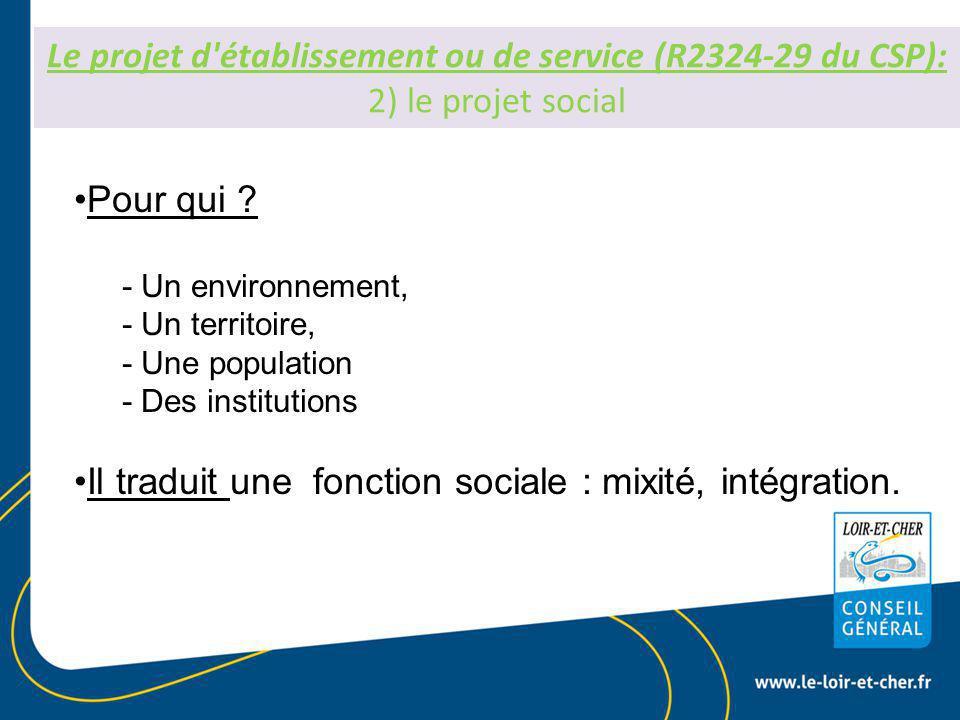 Il traduit une fonction sociale : mixité, intégration.