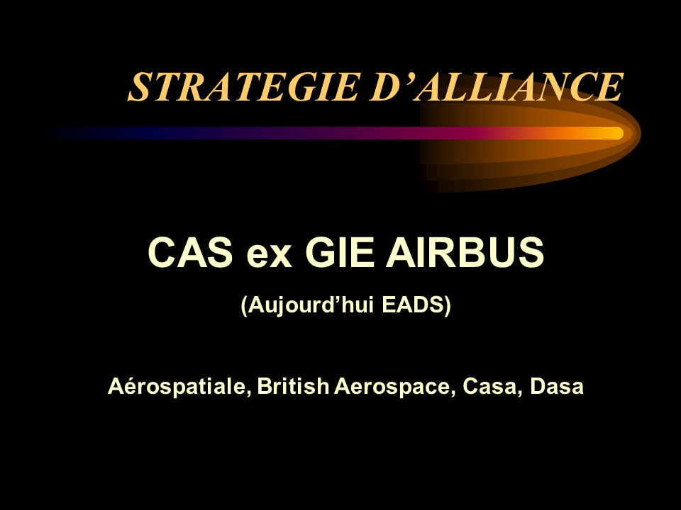 Aérospatiale, British Aerospace, Casa, Dasa