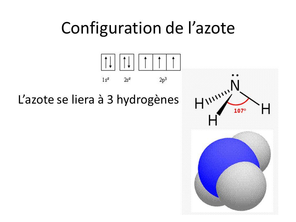 Configuration de l'azote