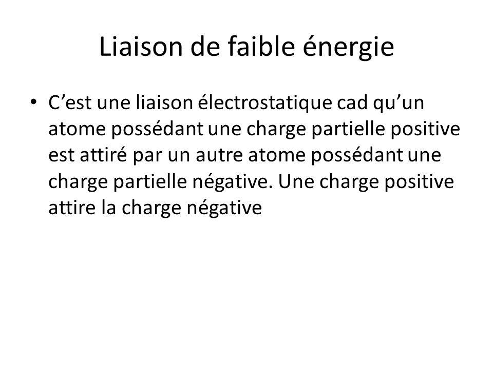 Liaison de faible énergie