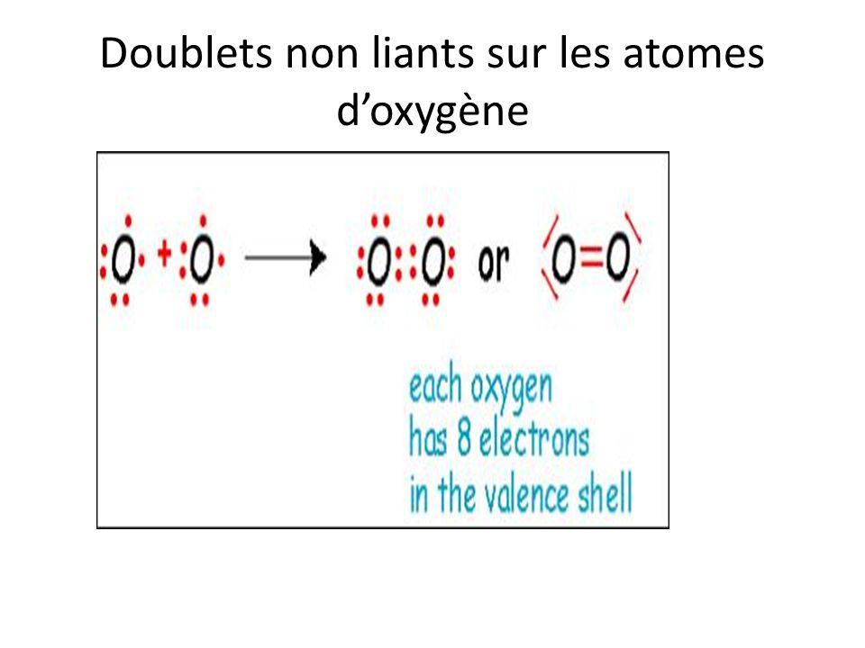 Doublets non liants sur les atomes d'oxygène