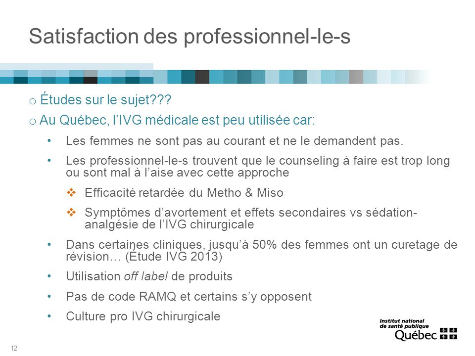Satisfaction des professionnel-le-s