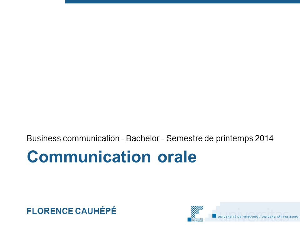 Communication orale FLORENCE CAUHÉPÉ