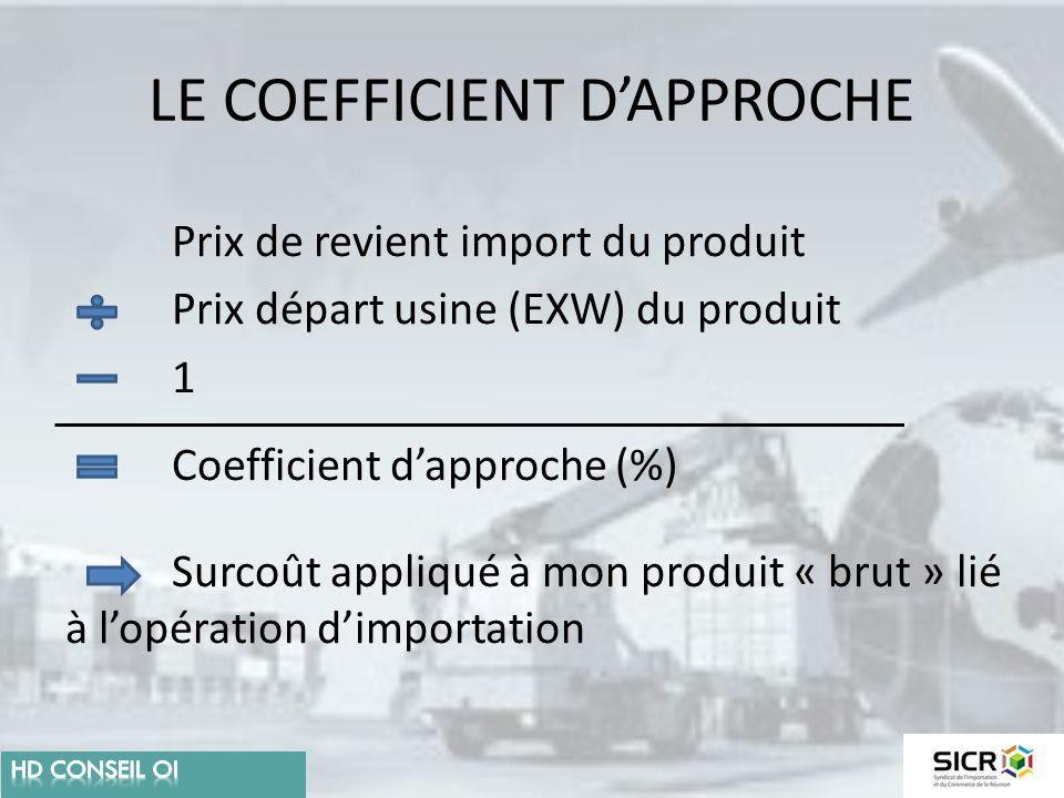 LE COEFFICIENT D'APPROCHE