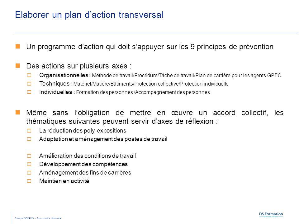 Elaborer un plan d'action transversal