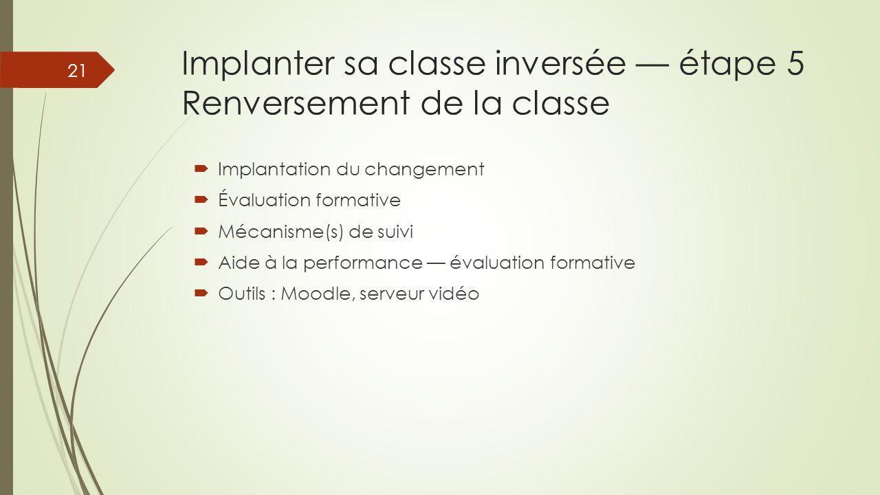 Implanter sa classe inversée — étape 5 Renversement de la classe